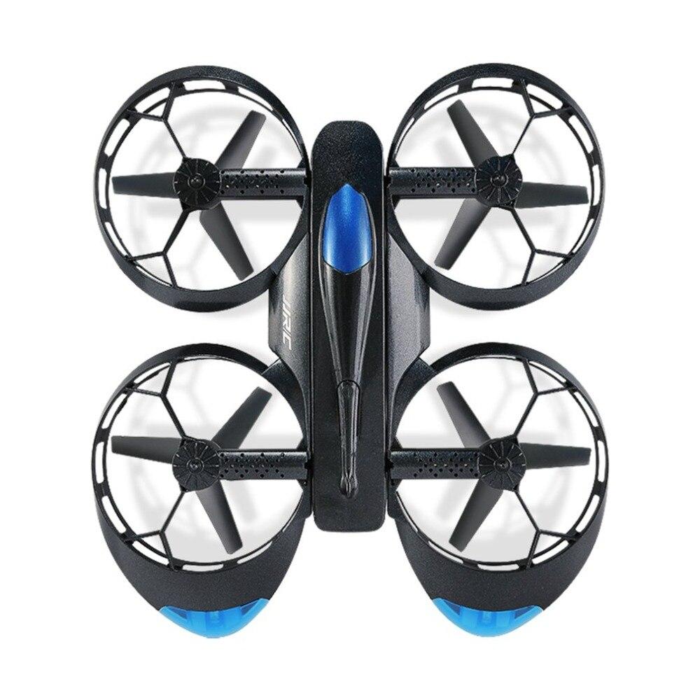 JJR/C H45 тележки Wi-Fi FPV Квадрокоптер Радиоуправляемый Дрон с камерой 720P голос Управление высота удержания колеса в форме складной мини Drone