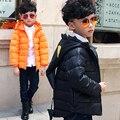 Sólida Casaco Meninos Para Baixo Crianças Jaqueta de Inverno Hoodies Casacos Parkas Menino Snowsuit Algodão-acolchoado outerwear 5 6 7 8 ano