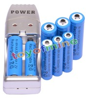 4 AA 4 AAA 1 2V 1800mAh 3000mAh NiMH Blue Rechargeable Battery Cell AA AAA USB