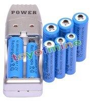 4 AA 4 AAA 1 2V 1800mAh 3000mAh NiMH Blue Rechargeable Battery Cell AA AAA USB