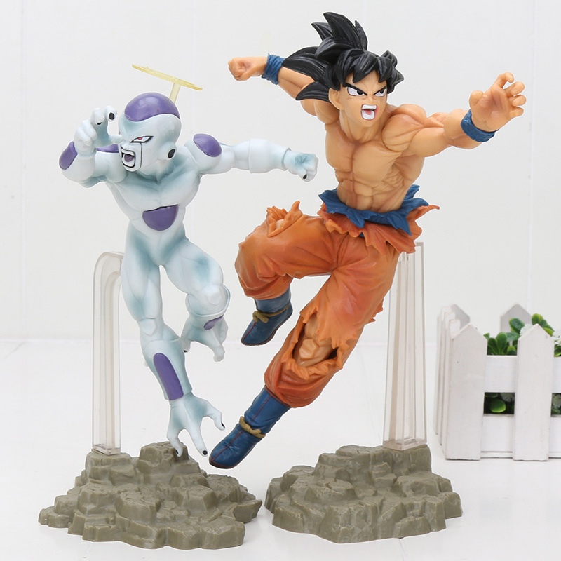 20CM Dragon Ball Super Saiyan 4 Son Goku Freeza Frieza Tag Figthers PVC Action Figure Collection Model Toys