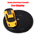 25cm 10in Diameter Black Heavy Duty 3D Rotating Display Stand Rotary Turntable with LED Light (10KG Centric Loading) 110~220V