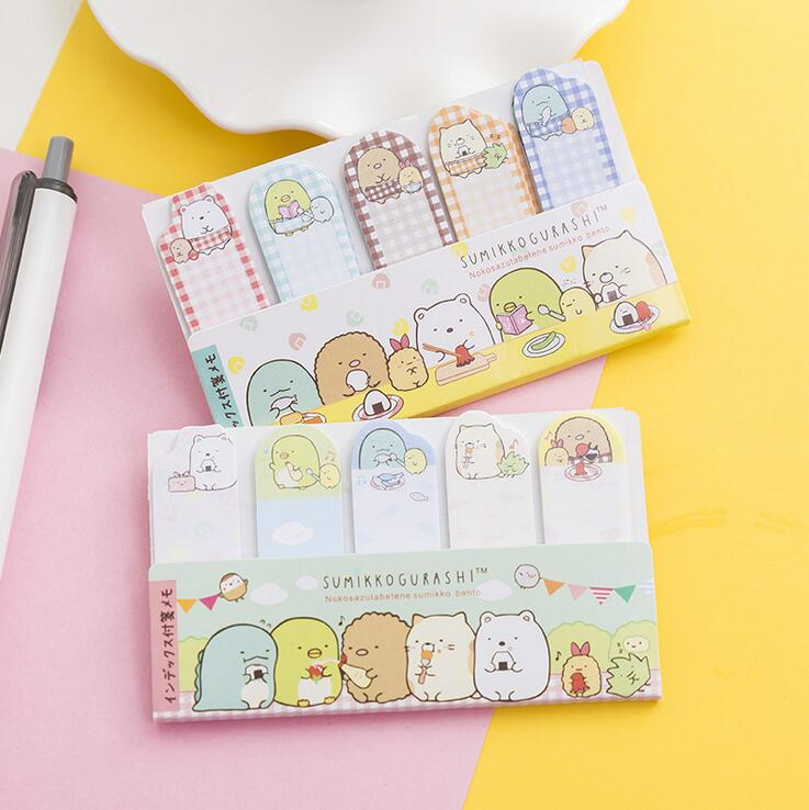 Sumikko Gurashi N Times Self-Adhesive Memo Pad Sticky Notes Bookmark School Office Supply