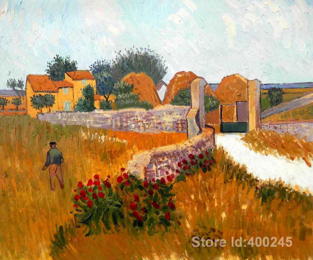 Vincent Van Gogh paintings of Farm House in Provence modern art High quality Hand paintedVincent Van Gogh paintings of Farm House in Provence modern art High quality Hand painted