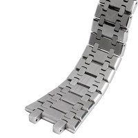 28mm Silver Wrist Band For AP Watch Replacement Solid Link Watchbands Stainless Steel Strap Bracelet Men with Butterfly Buckle