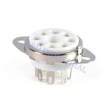 10pcs Ceramic Octal Vacuum Chassis Mount Tube Socket 8Pin EL34 6550 KT88 KT66 6SN7 5U4G 6CA7 6L6 Valve Base цена
