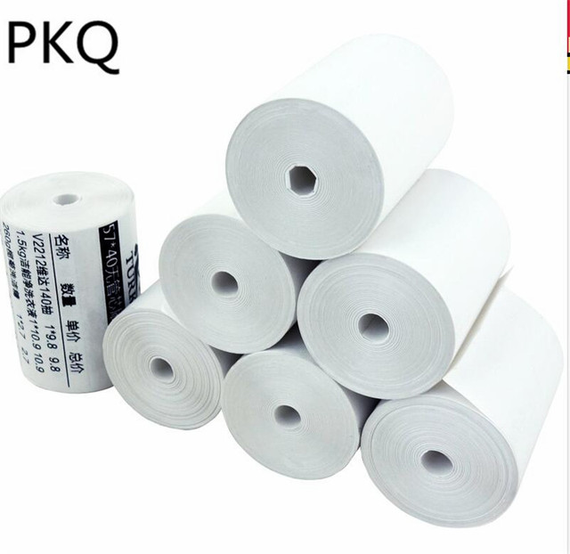 US $2 61 9% OFF|1Roll (13M) 57*40mm Thermal Receipt Paper Roll For Mobile  POS 57mm Thermal Printer Lot printing paper label printing paper-in Cash