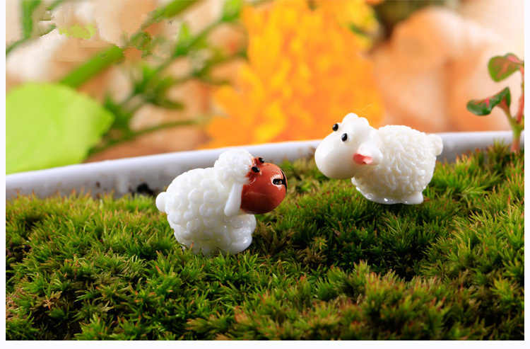 New Cute sheep fairy home micro garden decoration moss doll house ornaments miniature/terrarium DIY accessories