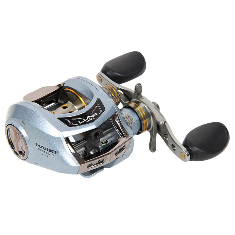 Haibo LUNA100 150 left right handed baitcasting fishing reel 6 5 1 6B 1RB 178g magnetic