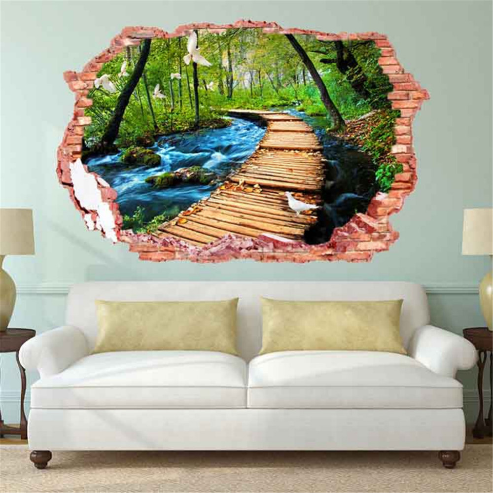 3d wall sticker home wall decor living room bedroom for Bedroom 3d wall stickers