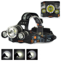 Boruit RJ-3000 Headlight 5000 Lumen Headlamp 3x XML T6 LED Head Lamp 3T6 LED Linternas Frontales For Camping(Only Lamp)