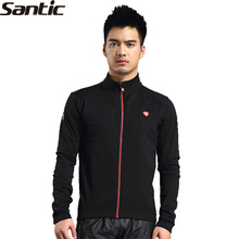 SANTIC New Bike Bicycle Cycling Men's Long Sleeve Jersey Winter Thermal Jacket -Lens UV Protection Keep Warm Windproof Black