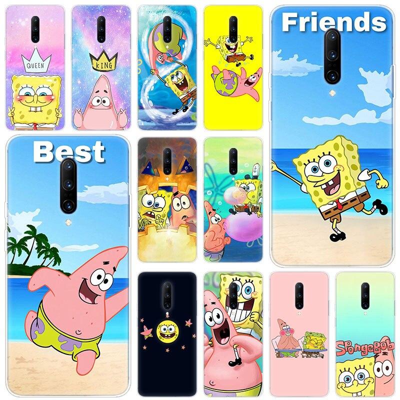Hot Best friend Sponge Bob And Patrick Soft Silicone Fashion Transparent Case For font b OnePlus