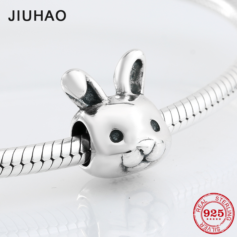 2018 fashion accessories 925 Sterling Silver lovely rabbit shape beads Fit Original Pandora Charm Bracelet Jewelry making