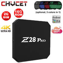 Chycet Z28 PRO Smart Android 7.1 TV Box RK3328 Quad Core 64 Bit 4K H.265 USB3.0 2GB 16GB Mini PC WiFi LAN HD Media Player Z28