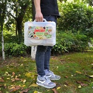 Image 4 - VILEAD 24 pcs Piknik tabak takımı Taşınabilir Açık Sofra Kamp BARBEKÜ Seyahat Plastik Kullanımlık Piknik Seti Fincan Kaşık Çatal Plaka