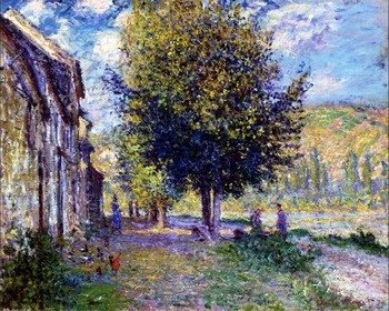 High quality Oil painting Canvas Reproductions Banks of the Seine at Lavacourt (1878) By Claude Monet hand painted