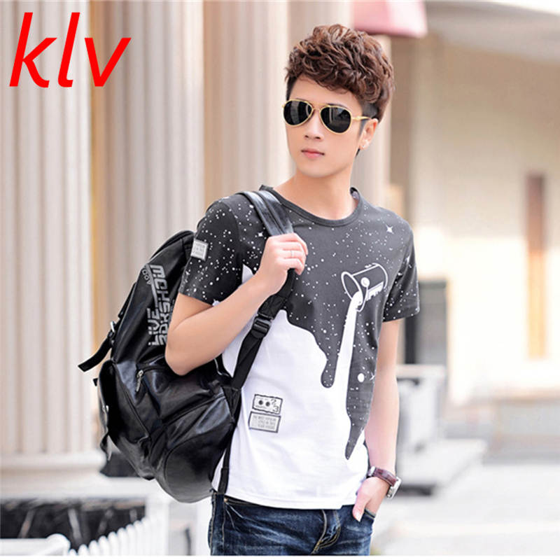 2017 Men Summer t shirt men O-neck Star Print comfortable t-shirt Casual tshirt homme Short sleeve clothing MaleTops Tees