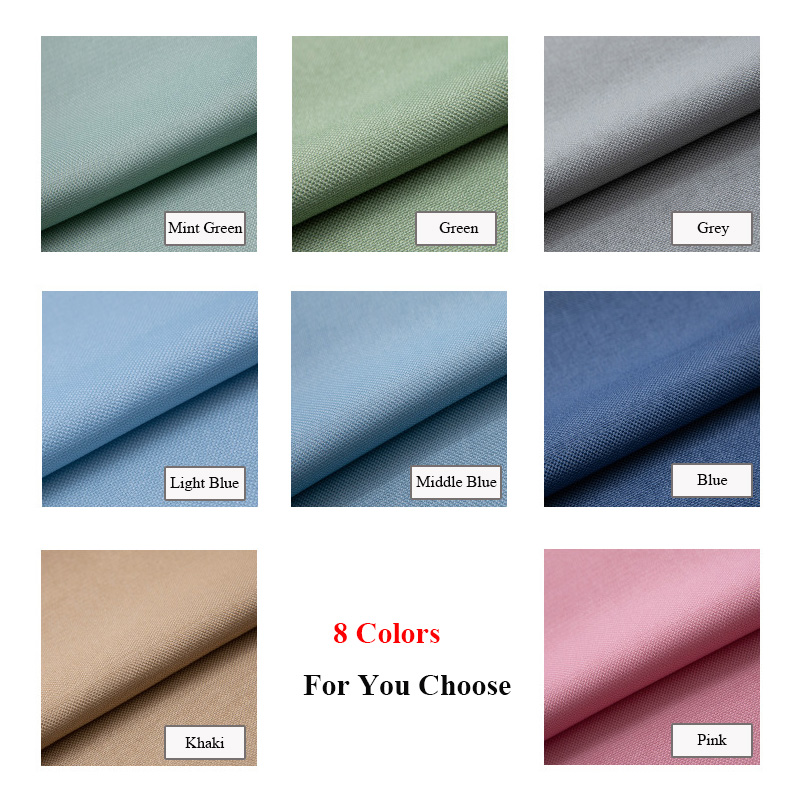 MISSION Solid Faux Linen Room Darkening Curtains for Living Room Bedroom Window Curtain Blinds Drapes Back Velvet Custom Made in Curtains from Home Garden