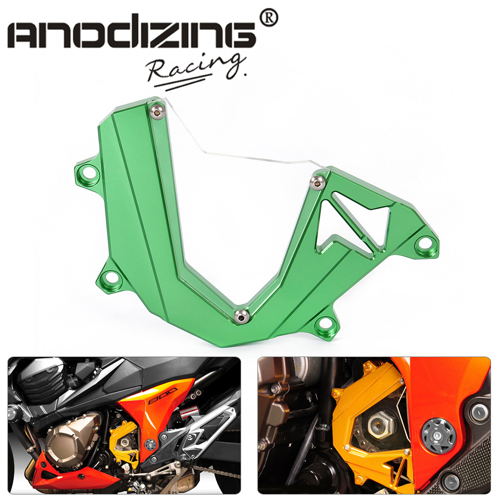 CNC Motorcycle Accessories Left Engine Front Sproket Chain Guard Protection Cover For Kawasaki Z800 motorcycle accessories cnc front