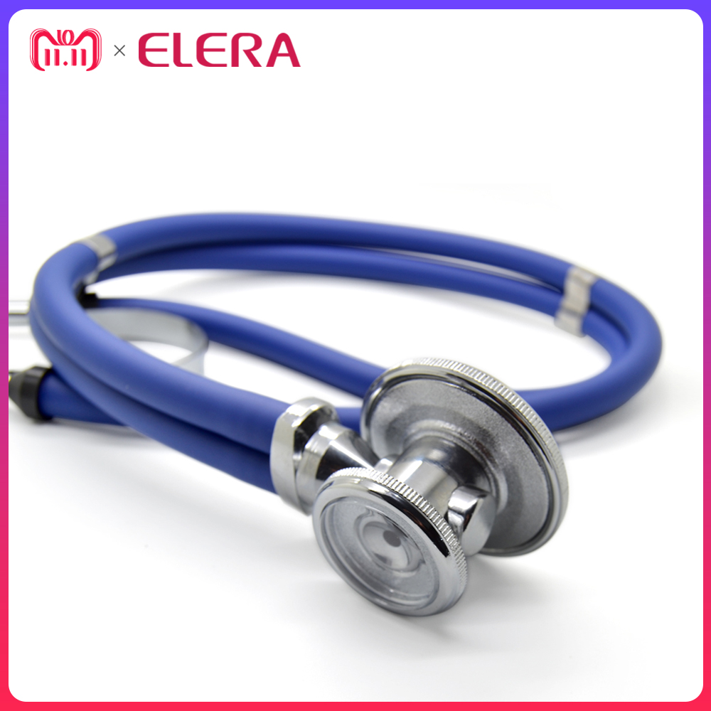 100% Brand New Double Dual Head Functional High Quality Professional Stethoscope Medical Estetoscopio Free Shipping high quality chrome head light cover for volkswagen tiguan free shipping brand new