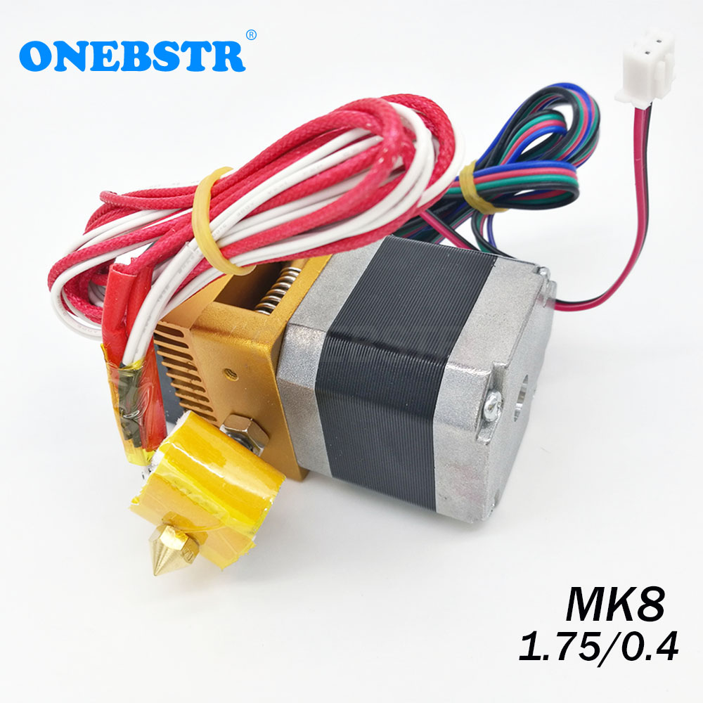 MK8 Extruder Kit 0 4mm Nozzle 1 75mm Filament  J-head Hotend Extrusion 3D Printers Parts Free Shipping