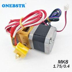 Mk8 extrusora kit 0.4mm bocal 1.75mm filamento j-cabeça hotend extrusão 3d impressoras peças frete grátis