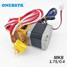 Zestaw wytłaczarek MK8 0.4mm dysza 1.75mm Filament j head Hotend wytłaczanie części do drukarek 3D darmowa wysyłka