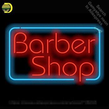 Salon de coiffure LOGO personnalisé néon enseigne néon ampoule signe lumière verre Tube artisanat lumière décorative chambre lumineuse couleur publicité