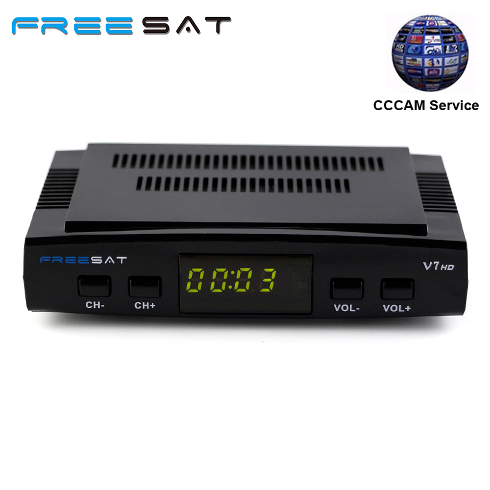 Free sat V7 HD With 1 Year Europe Cccam server DVB-S2 Receptor satellite Decoder + USB WIFI FULL HD 1080p Satellite Receiver