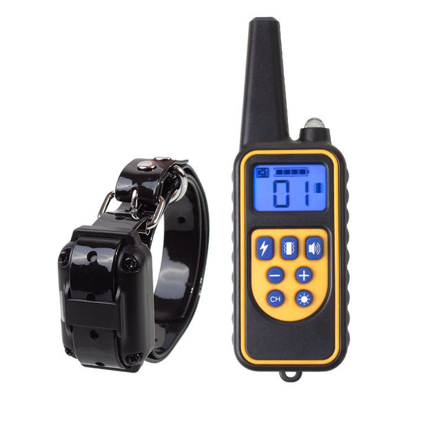 800m Electric Dog Training Collar Pet Remote Control Waterproof Rechargeable with LCD Display for All Size Shock Vibration Sound 1