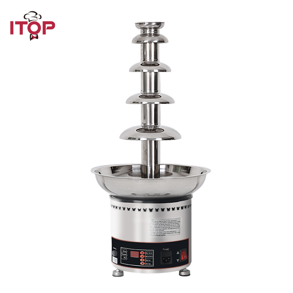 ITOP 4 5 6 7 Tiers Commercial Chocolate Fountain Christmas Chocolate Melting Warming Pots For Party