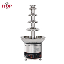 ITOP 4/5/6/7 Tiers Commercial Chocolate Fountain , Christmas Melting Warming Pots For Party Banquet 110V/220V