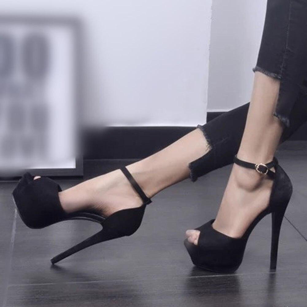 De Talons Ins Taille Noir Dilalula Chaussures Mince Femme 2019 Sandales 43 Sexy Peep Populaire Grande 33 D'été Femmes Toe Hauts p7wq1a4wS