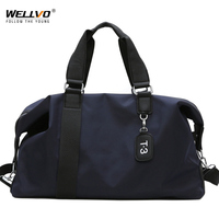 Women Travel Bag Large Duffle Men Casual Fitness Bags Solid Handbag Black Waterproof Weekend Trip Luggage Shoulder Bag XA127ZC