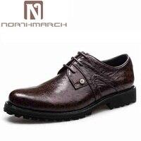 Northmarch Для мужчин британский Туфли под платье Для мужчин Бизнес Обувь кожаная для девочек мужские оксфорды Туфли без каблуков Пояса из натур