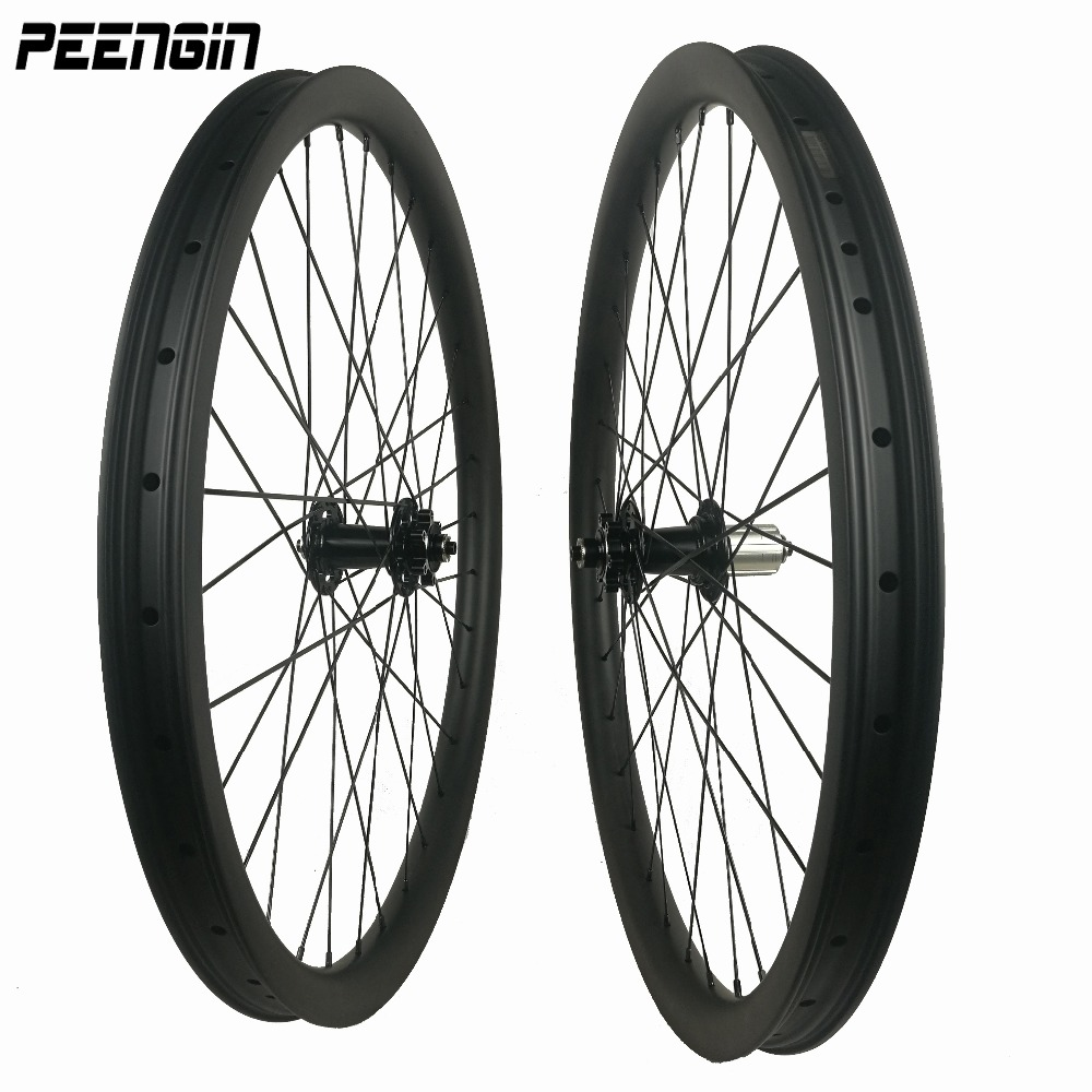 carbon wheels mountain bike 26/27.5/29er descent wheelsets 40x32 clincher hookless tubeless downhil rim used rueda 26 mtb parts цена