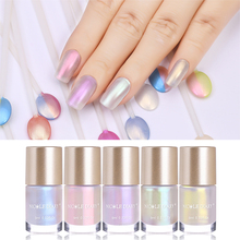 NICOLE DIARY 9ml Nail Polish Jelly Holographic Metallic Thermal Shiny Flakies Sequins Manicure Art Varnish