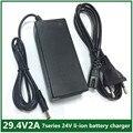 29.4V2A carregador 29.4 V 2A lítio carregador de bateria carregador de bateria de lítio de 7 séries de garantia