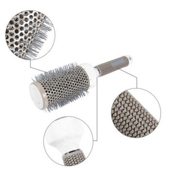 Hair Dressing Brush Salon Barber Styling Barrel 5 Sizes Ceramic Iron Round Comb