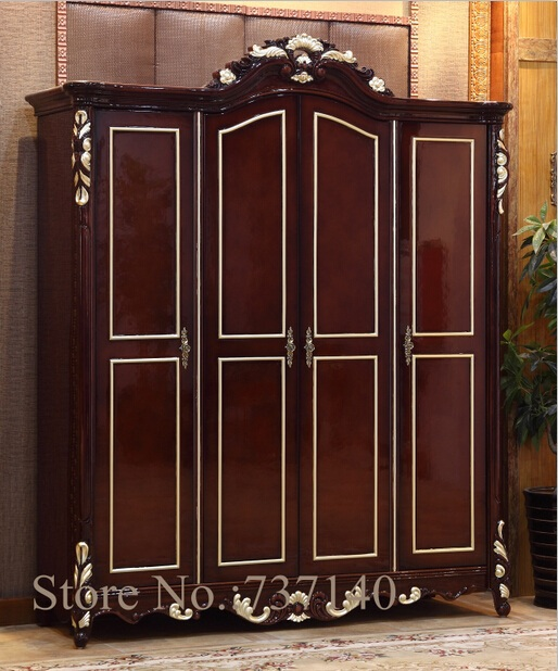 Wardrobe Bedroom Furniture Solid Wood Wardrobe Wooden