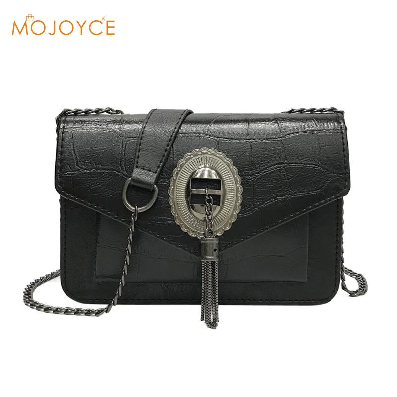 Chain Shoulder Bags for Women Female Tassel Retro Crossbody Bags Mini Clutch Fashion PU Leather Small Handbags Envelope Bags