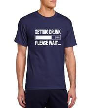 """""""Getting Drunk-Please Wait"""" men's shirt / 20 Colors"""