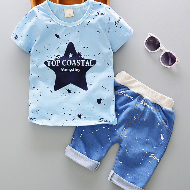 5e9889215 DIIMUU 2PC Summer Toddler Baby Boys Kids Children Casual Clothes Clothing  Printed Outfits Suits Sets T-shirt + Short Pants