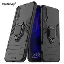 For Huawei Nova 5 Case Magnetic Finger Ring Kickstand Hard PC Phone Cover Youthsay