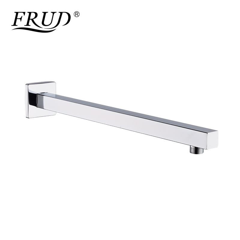 Frud New Wall Mount Copper Shower Arm Bathroom Concealed Install Shower Holder Square Simple Shower Wall Hanging Head Bar Y81019