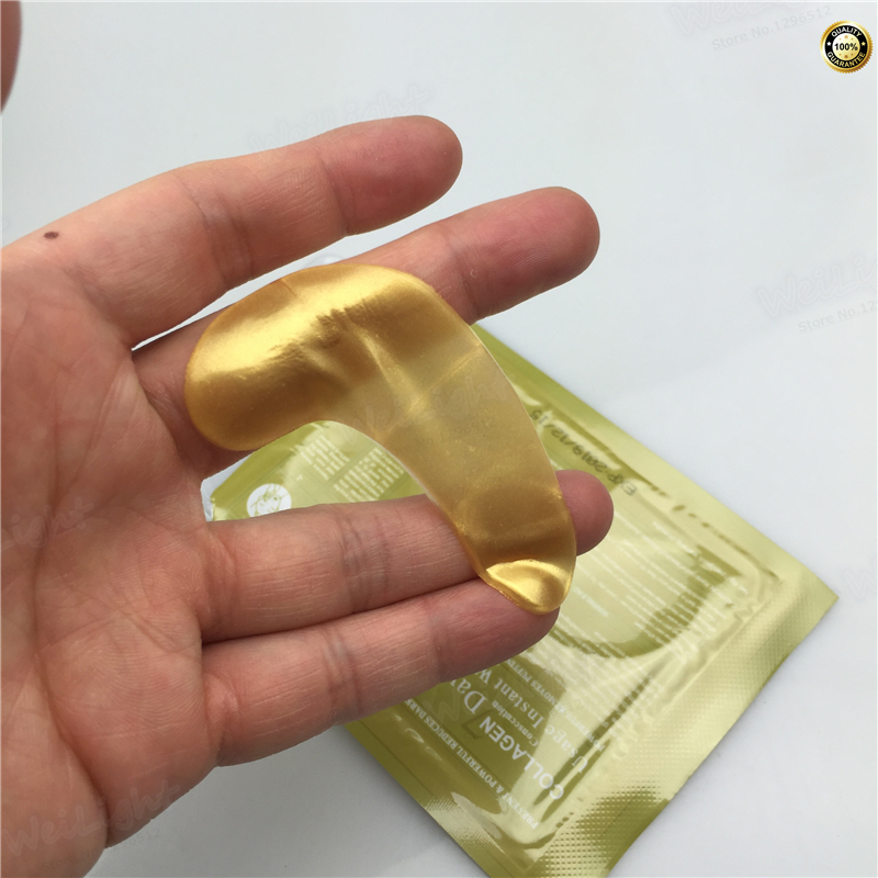 Gold Crystal Collagen Sleeping Eye Mask Hotsale Eye Patches Mascaras 1 pair Fine Lines Face Care Skin Care