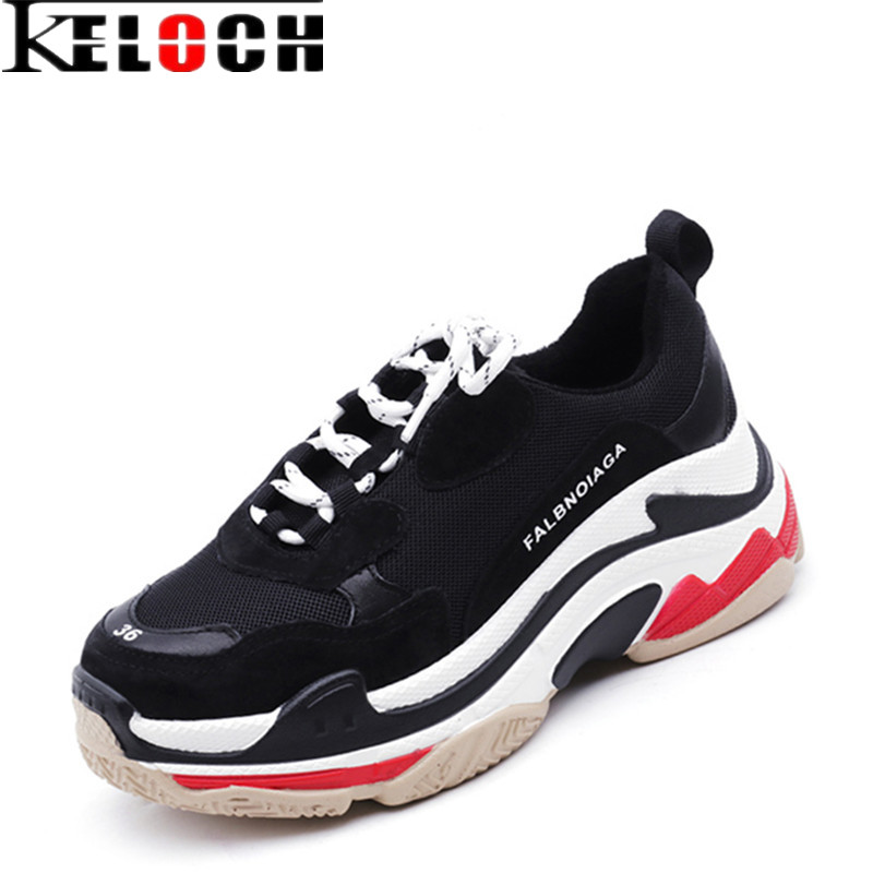 Keloch European style Autumn Winter Breathable Women Running Shoes Men Platform Sneakers Outdoor Women Walking Shoes Men