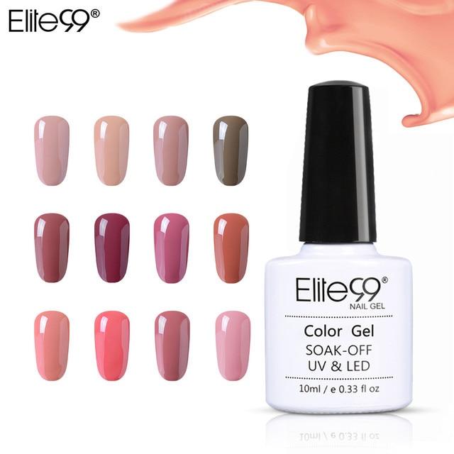 Elite99 10 ML Malerei Gel Lack Gelb nackt Gel Nagellack Für Maniküre DIY Top Basis Mantel Hybird Design Von nail art Primer