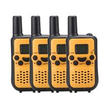 4pcs New FRS portable mini walkie talkie handy radio mobile transceiver GMRS 22CH two-way radios w/ flashlight VOX TS899 yellow